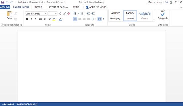 Use O Microsoft Office On Line Abra Leia E Crie