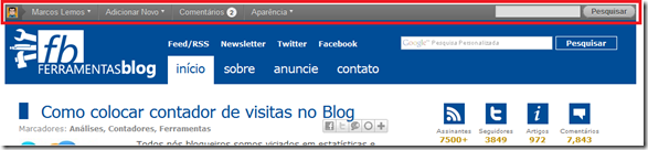 barra-admin-wordpress-nova