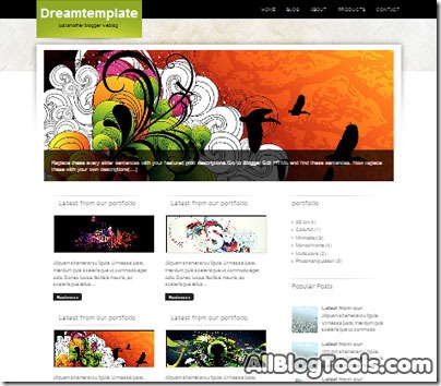 Dreamtemplate-bloggert