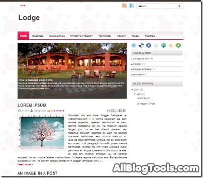 Lodge-blogger-template