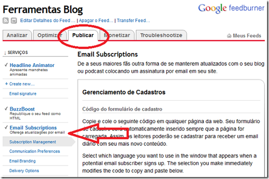 publicar-newsletter-feedburner-menu
