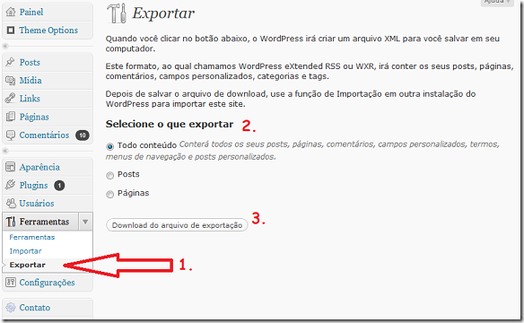 WP-ferramentas-exportar-backup-blog