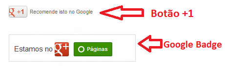 Botões do Google+ para Blogger