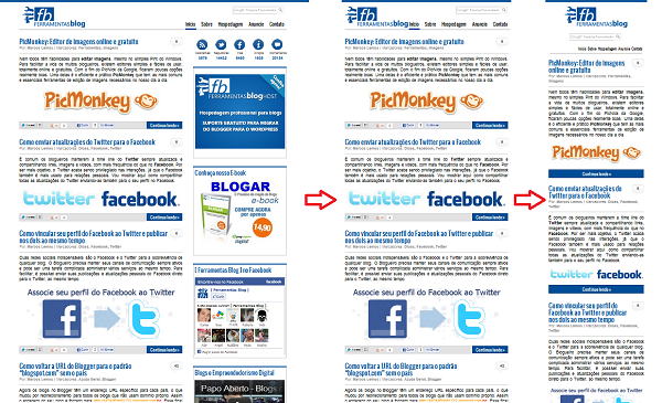 Layout Responsivo do Blog