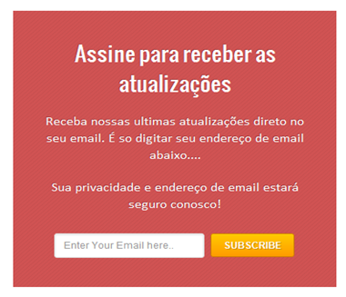 Box flutuante assinar Feed via Email