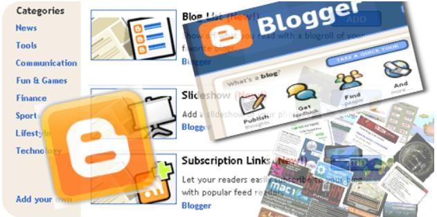 Gadgets para Blogger