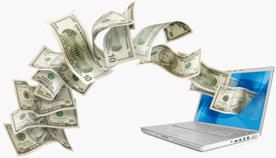 Dinheiro no computador
