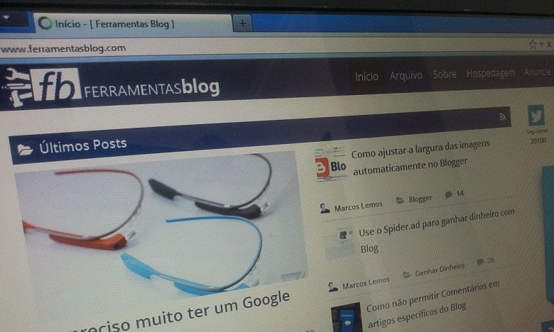 Novo layout do Ferramentas Blog