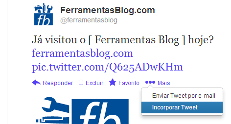 Incorporar Tweet no Blog