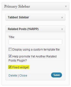 Fixed Widget para WordPress