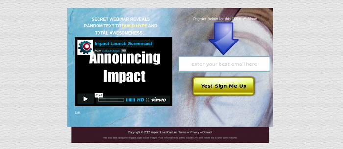 Impact Template Editor WordPress Plugin