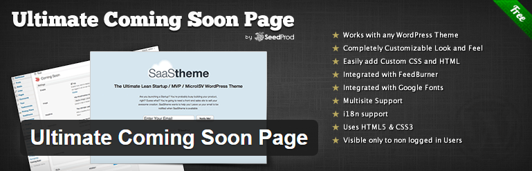 WordPress Ultimate Coming Soon Page Plugn