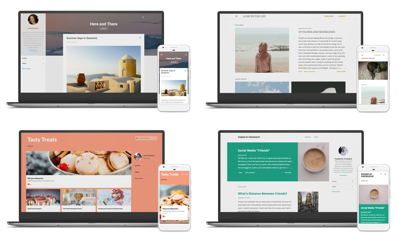 Novos Templates Responsivos do Blogger