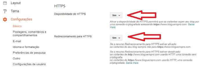 Ativar HTTPS no Blogger para domínio próprio